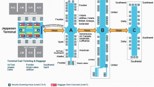 Paris France Airport Map A Look Inside the Terminal and Concourses at Denver International