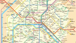 Paris France Subway Map Karte Plan Der Pariser Metro format Xl Metroplan Metrokarte