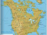 Physical Features Of Canada Map the Map Shows the States Of north America Canada Usa and