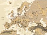 Physical Map Of Europe for Kids Fotografie Obraz Europe Vintage Physical Map Posters Cz