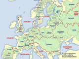 Physical Map Of Europe Rivers and Mountains Rivers Maps and atlases
