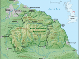 Physical Map Of New England north York Moors Wikipedia