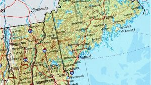 Physical Map Of New England Physical Map Of Massachusetts Sksinternational Net