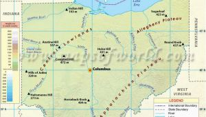 Physical Map Of Ohio Snow Emergency Levels Ohio Latest News Images and Photos