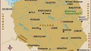 Poland On A Map Of Europe Map Of Poland