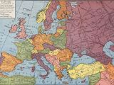 Political Map Europe 1914 Europe From 1914 to 1935 Rand Mcnally Company 1946