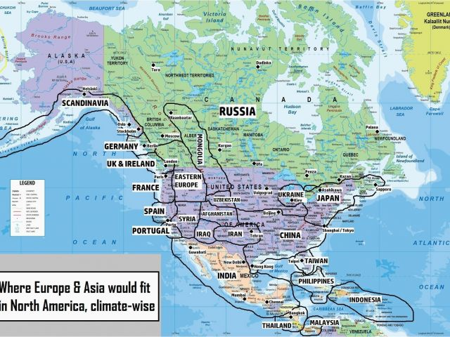 Political Map Of Canada and Usa Road Maps Canada World Map ...
