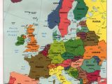 Political Map Of Europe with Cities Map 0f Europe