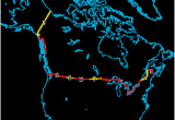 Political Map Of the Us and Canada Canada United States Border Wikipedia