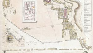 Pompeii On Map Of Italy File 1832 S D U K City Plan or Map Of Pompeii Italy Geographicus