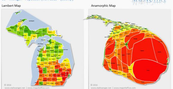 Population Density Map Michigan Michigan Population Density Map Secretmuseum