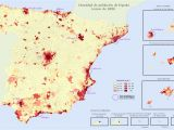 Population Map Of Spain Quantitative Population Density Map Of Spain Lighter Colors
