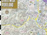 Portland oregon Light Rail Map Streetwise Portland Map Laminated City Center Street Map Of