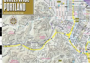 Portland oregon Light Rail Map Streetwise Portland Map Laminated City Center Street Map Of