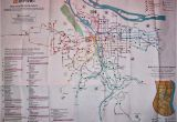Portland oregon Max Map Transit Maps Historical Map Trimet Bus and Max Routes Portland