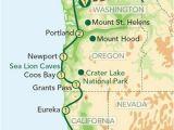 Portland oregon On the Map Map oregon Pacific Coast oregon and the Pacific Coast From Seattle