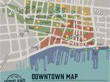 Portland oregon Suburbs Map Downtown Map Portland Downtown