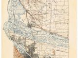 Portland oregon topographic Map Portland oregon Map Print Map Of Portland Art Print Etsy