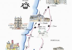 Portugal Map In Europe Portugal Road Trip Map A Road Trip Itinerary Around Lisbon
