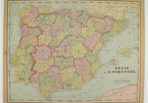 Portugal Map In Europe Vintage Spain Map Portugal Holland Map Belgium Denmark Map