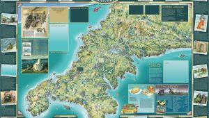 Portwenn Cornwall England Map Map Cornwall Designed by Srstudio Near Truro Cornwall A A A N