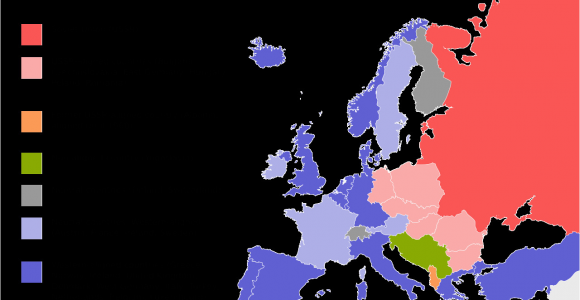 Post War Europe Map Political Situation In Europe During the Cold War Mapmania