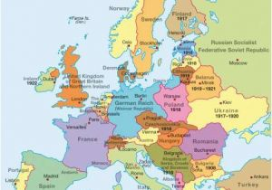 Post Wwi Map Of Europe Map Of Europe at the Beginning Of World War 1 Download