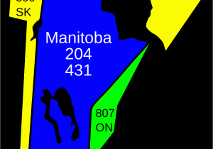 Postal Code Map Ontario Canada area Codes 204 and 431 Wikipedia