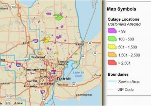 Power Outage Michigan Map Level 3 Outage Map New View Outage Map Dte on