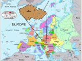 Prague On Europe Map Prague Map Europe