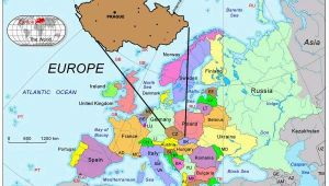 Prague On the Map Of Europe Prague Map Europe