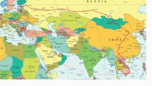 Printable Map Of Europe and asia Eastern Europe and Middle East Partial Europe Middle East