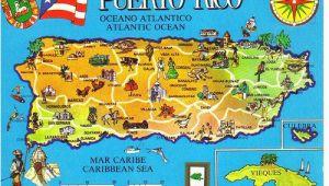 Puerto Rico Spain Map Puerto Rico Map Postcard Afghan Iraq Wall Puerto Rico 52