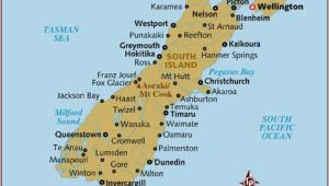 Queenstown Ireland Map Map Of south island