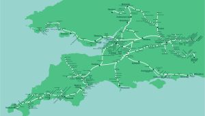 Rail Map south England Great Western Train Rail Maps
