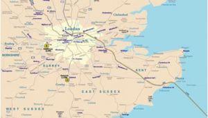 Rail Map southern England Rail Map Of southeast England Johomaps