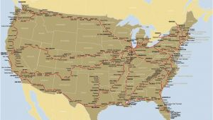 Railroad Map Of California Map Of the Amtrak Rail Network California Zephyr Train Travel