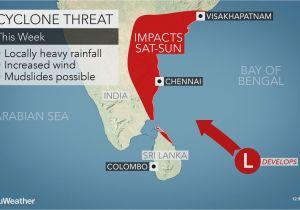 Rain Map California Potential Tropical Cyclone May Impact India During Mid December