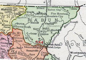 Rand Mcnally Map Of Texas Rabun County Georgia 1911 Map Rand Mcnally Clayton Mountain