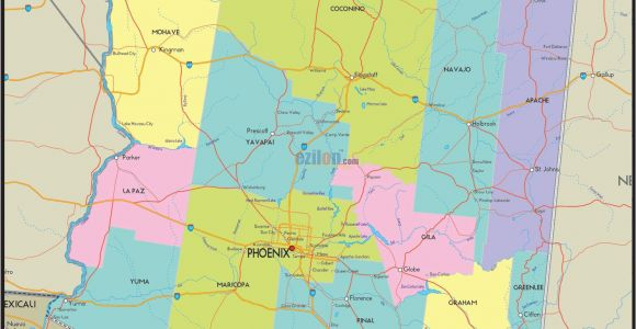 Raymond California Map Mesa Arizona Usa Map Best Arizona Map Detailed County Map California