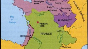 Regional Map Of France In English 100 Years War Map History Britain Plantagenet 1154 1485