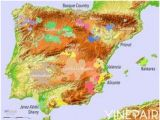 Relief Map Of Spain 239 Best Wine Related Maps Guides Images In 2017 French Wine