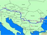 River Danube Map Europe Uvod Layout 1