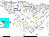River Ebro Spain Map Distribution Of 14 Rainfall Gauges In the Ebro River Basin