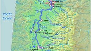 Rivers In oregon Map A Map Of the Willamette River Its Drainage Basin Major Tributaries
