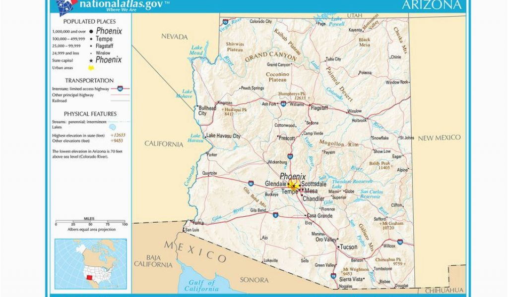 Road Map Of Arizona State Maps Of the southwestern Us for ...