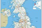 Road Map Of England and Scotland United Kingdom Uk Road Wall Map Clearly Shows Motorways Major Roads Cities and towns Paper Laminated 119 X 84 Centimetres A0