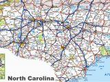 Road Map Of Georgia and south Carolina north Carolina Road Map