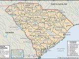 Road Map Of Georgia and south Carolina State and County Maps Of south Carolina