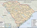 Road Map Of north and south Carolina State and County Maps Of south Carolina